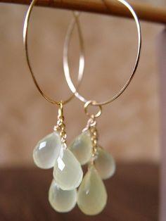 lemondrops cluster gold hoops