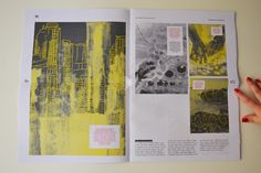 Self-promotional newspaper / My portfolio by Nikola Klímová, via Behance