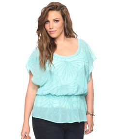 Embroidered Frond Top | Forever21