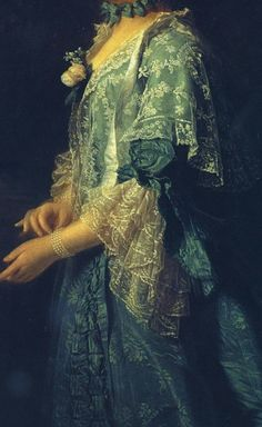"""""""Portrait of Augusta of Saxe Gotha, Princess of Wales"""" (1759) (detail), byAllan Ramsay (1713–1784)"""