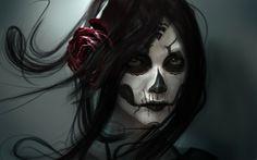 Sugar Skull make up art Free HD Wallpaper