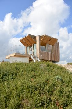 Vigie de Figuerolles (Firetower of Figuerolles). Architectes: OH!SOM architectes. Location: Tte Figuerolles National Park, Saint-Mitre-les-Remparts, near Marseilles, France.