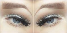 Beauty blogger Sanna-Emilia (http://sanna-emilia.blogspot.fi) used Lumene Blueberry Intense Liner and silvery Glitter Top Coat Mascara for her beautiful New Year's Eve make-up look.  #glitter #makeup #lumene