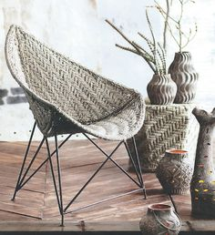 Silver Jute Moghul Chair