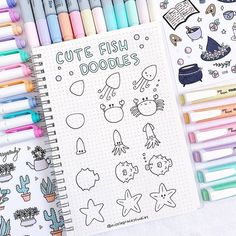 Cute fish doodles for your bullet journal or for your sketchbook 🐳! Hope you guys like these new 3 step doodle tutorial 😍 They're perfect… Easy Doodles Drawings, Easy Doodle Art, Doodle Art Drawing, Simple Doodles, Cute Doodles, Doodle Doodle, How To Doodle, Bullet Journal Writing, Bullet Journal Ideas Pages