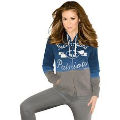 Women's Touch by Alyssa Milano New England Patriots On Campus Full Zip Hooded Sweatshirt