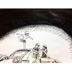 #sketchalldays : #252  apenas uma cena aleatório veio em minha mente  então eu tive que desenhar kkkk #sketch #nankin #art #ilustration #ilustração #desenho #drawing #draws #doodle #moleskine by vinicius_kovaleski