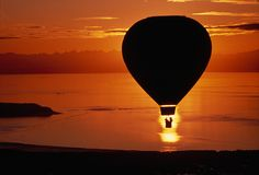 A balloon from Anchorage, Alaska, flies over Cook Inlet, Photograph by Chris Johns, National Geographic Creative Balloon Rides, Hot Air Balloon, National Geographic Archives, Chris John, Balloons Photography, Sunset Photography, Anchorage Alaska, Instagram, Pictures