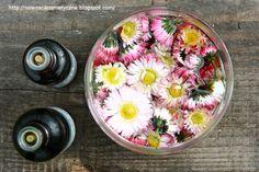 Krem sporządzony ze stokrotki łagodzi obrzęki i potłuczenia skóry, dodatkowo pomaga w walce z trądzikiem. Jak sporządzić krem na stronie: http://nowoscikosmetyczne.blogspot.com/