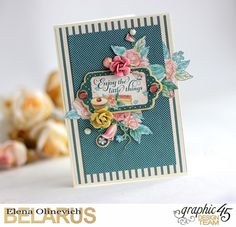 Funny Flowers Cards featuring Cafe Parisisan, by Elena Olinevich, product by Graphic45.