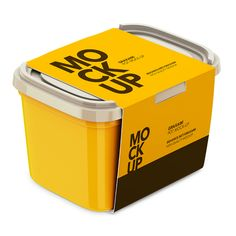 Packreate » Plastic Container – With Paper Label
