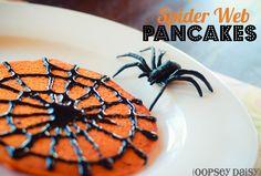 spider web pancakes
