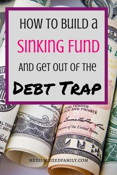How to Build a Sinking Fund and Get Out of the Debt Trap. If you're looking for sinking funds ideas, this post is packed with info. Ideas for breaking up your categories, a spreadsheet to help you do it, and info on helping to find money to fill it. Ways To Save Money, Money Tips, Money Saving Tips, Financial Peace, Financial Tips, Financial Planning, Budgeting Finances, Budgeting Tips, Lifehacks
