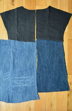 Create a stylish block denim dress using the pattern Essential Denim Dress from Sew Different. Diy Clothing, Sewing Clothes, Ropa Upcycling, Estilo Jeans, Mode Jeans, Denim Ideas, Denim Crafts, Recycle Jeans, Old T Shirts