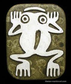 The frog symbolizes joy.