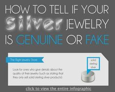How to tell if your silver jewelry is genuine or fake