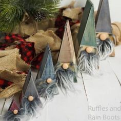 I absolutely adore these wooden nesting gnomes I made. These stacking gnomes are not only easy, but they make awesome Christmas gnomes. Christmas Craft Fair, Christmas Gnome, Holiday Crafts, Fun Crafts, Crafts For Kids, Christmas Ornaments, Gnome Ornaments, Christmas Ideas, Gnome Tutorial