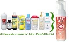 Silver soft sanitizer - replaces multiple products. Safe. Pack this for every outing.