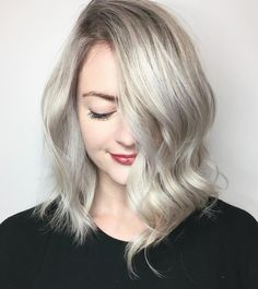 Shoulder Length Ash Blonde Bob