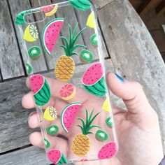 PRE-ORDER! Will arrive in 2-3 weeks! Clear iPhone case with assorted fruit print! Fits iPhone 6