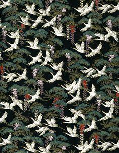 Chiyogami cranes washi paper.