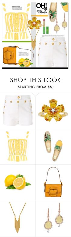"""OH! You Pretty Things"" by helenaymangual ❤ liked on Polyvore featuring Balmain, David Tutera, Thierry Colson, Tory Burch, Lord & Taylor, Meira T and Tata Harper"
