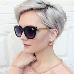 Side Part Long Pixie Crop Hairstyles 2017