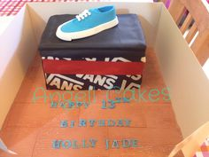 Vans shoe cake by Angell cakes