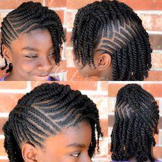 black braided hairstyles for girls kids. Natural Braided Hairstyles, Natural Hair Braids, Natural Hairstyles For Kids, Braided Hairstyles For Black Women, Kids Braided Hairstyles, African Braids Hairstyles, Girl Hairstyles, Natural Hair Styles, Flat Twist Hairstyles