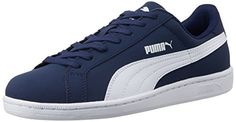 Puma Smash Nubuck, Unisex Adults Low-Top Trainers, Blue (Peacoat/White 01), 6.5 UK (40 EU)