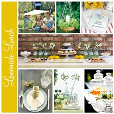 lemonade spring lunch party ideas