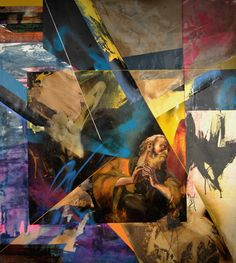 Mix Media Painted Collage by Poesia