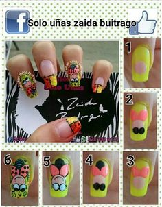 Tutorial Nails, Nail Tutorials, Kylie, Finger, Nail Designs, Nail Art, Crochet, How To Make, Best Nails