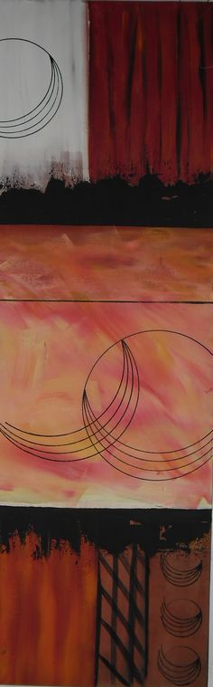 Lunar conjunction  16x48inch acrylic 80.00NZD plus freight email  spittlehouse.julie@gmail.com