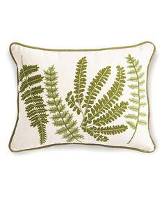 Another great find on #zulily! Green & Natural Fern Lumbar Pillow #zulilyfinds