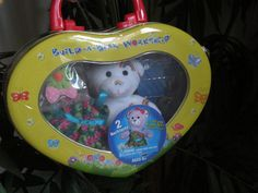 Build-A-Bear Workshop Tin ~ NEW ~ Rainbow Bear with Clothing & 2 Necklaces! Sealed! EASTER GIFT! Toy