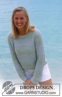 Ravelry: Pullover pattern by DROPS design Jumper Knitting Pattern, Chunky Knitting Patterns, Knit Patterns, Drops Design, Moda Crochet, Knit Crochet, Knit Fashion, Crochet Clothes, Pulls
