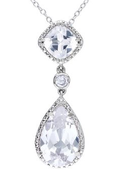 Shop for Miadora Sterling Silver White Sapphire or Green Amethyst Necklace. Get free delivery On EVERYTHING* Overstock - Your Online Jewelry Destination! Sapphire Pendant, Amethyst Necklace, Pendant Necklace, White Sapphire, Sterling Silver Necklaces, Beautiful Rings, Fashion Jewelry, Women's Fashion, Bridesmaid Necklaces