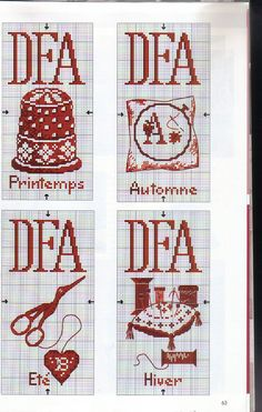 Arch Lever File Labels for Sewing Papers Cross Stitch Alphabet, Cross Stitch Charts, Cross Stitch Patterns, Crochet Cross, Crochet Chart, Cross Stitching, Cross Stitch Embroidery, Cross Stitch Kitchen, Needle Book