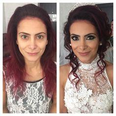 Makeover Bridal Contouring Makeup Smokey Eyes Bridal Updo