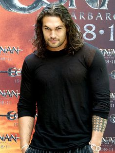 Jason Mamoa!   Long hair on some guys is hot and on him it's def. hot!!!