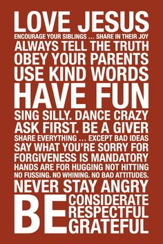 Family Rules Subway Art Print // Red and by AlexanderCreative