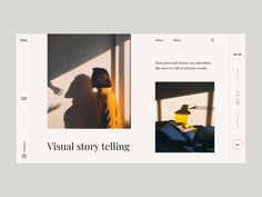 Story designed by Tamo Tkemaladze. Connect with them on Dribbble; Minimal Web Design, Ux Design, Creative Design, Graphic Design, Website Design Layout, Web Layout, Layout Design, Best Banner, Web Banner Design
