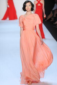 Badgley Mischka  Spring 2014  peach gown