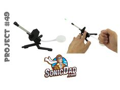 The Sonic Mini Air Cannon is a fun project for kids ages 5 and up. This little air cannon fires Air-Soft bb's and is powered by smacking a dog toy squeeze bulb with your fist. The angle of the barrel can be adjusted while you fire the cannon. This project also includes a target for sharpening your long-range artillery skills!