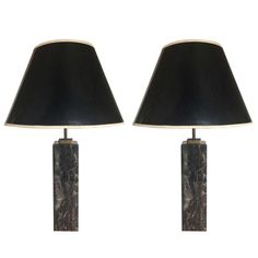 Pair of Robsjohn-Gibbings Marble Lamps for Hansen Lighting | From a unique collection of antique and modern table lamps at http://www.1stdibs.com/furniture/lighting/table-lamps/