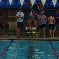 Christian first swim meet 2012