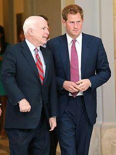 Prince Harry in Washington DC with John McCain
