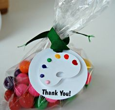 Little Artist Birthday Party Thank You Favor by WeBringTheParty, $10.00 - Love these!