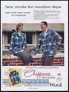 1957 Chippewa Falls Woolens ad